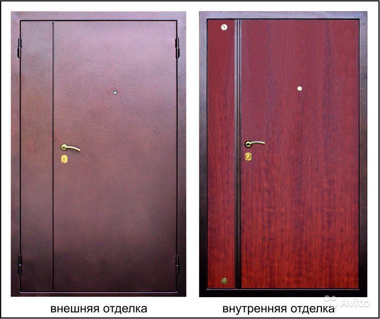 стальные двустворчатые двери в тамбур